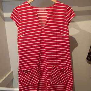 Maternal America Dress/Shirt Red/White stripe